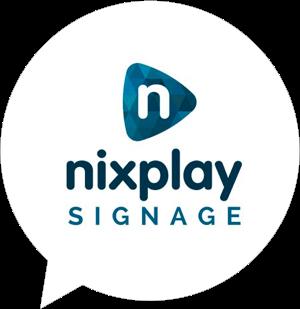 nixplay signage logo in bubble