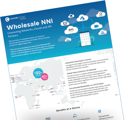Wholesale NNI data sheet cover