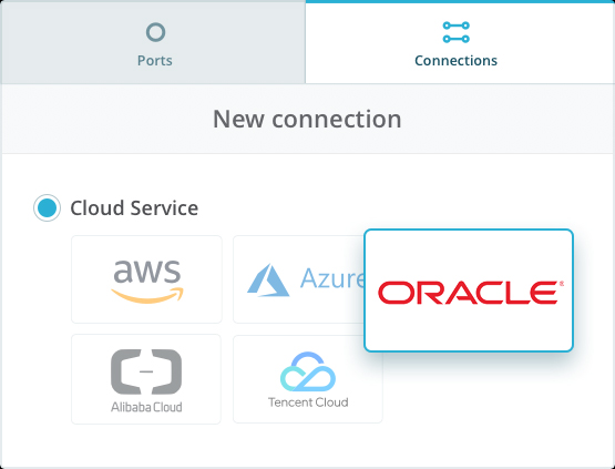 Connect to Oracle cloud