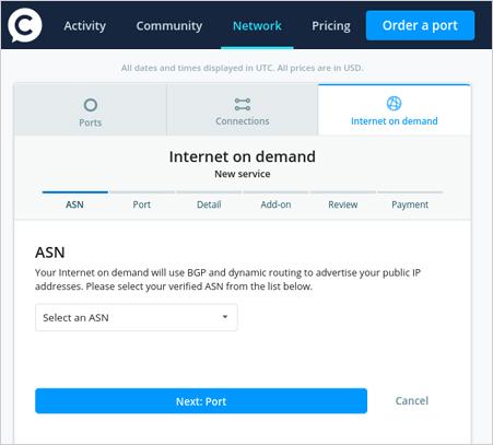 Internet On-Demand Screenshot