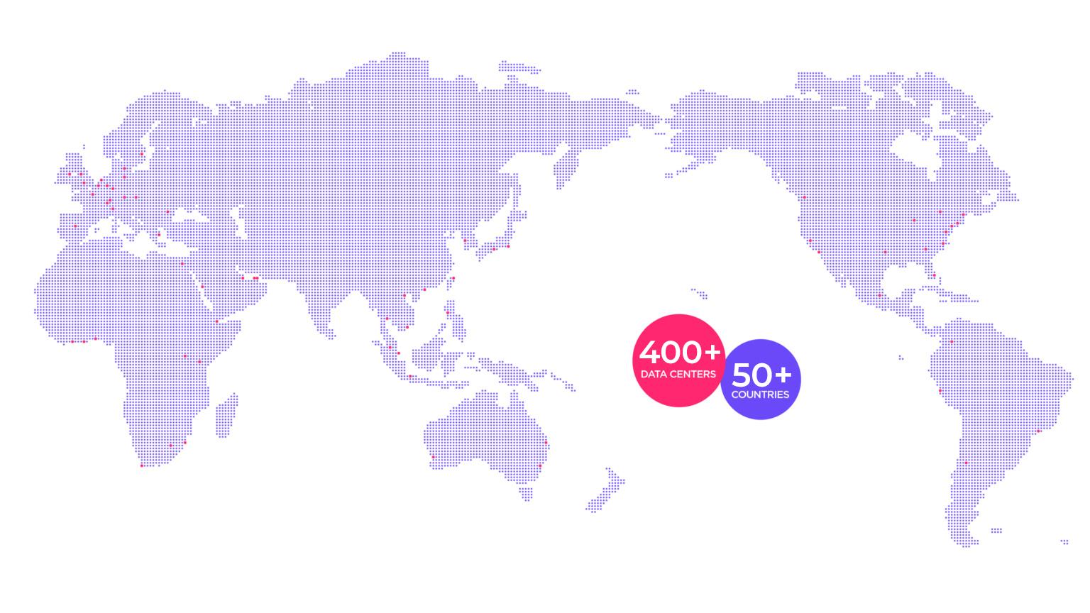 White data centre map